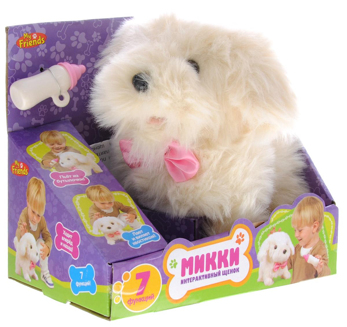 Играем вместе Интерактивный щенок Микки цвет бежевый