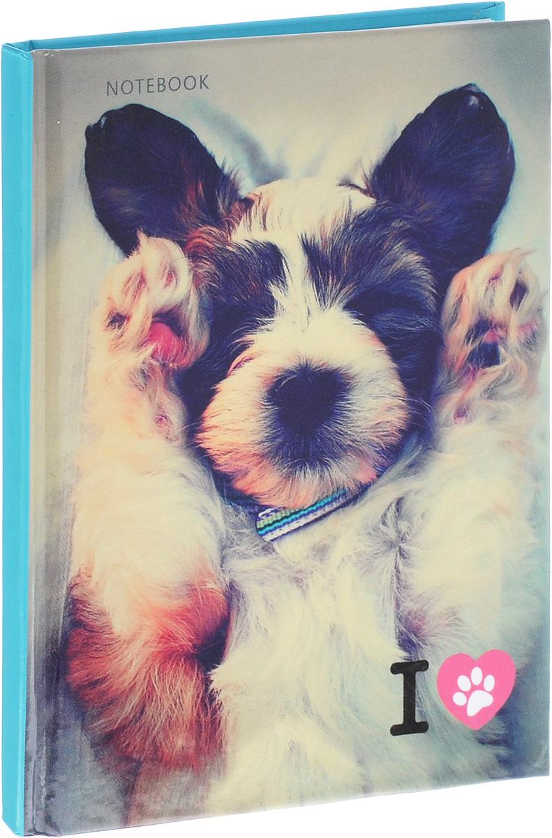 Listoff Записная книжка Очаровательный щенок 80 листов в клетку