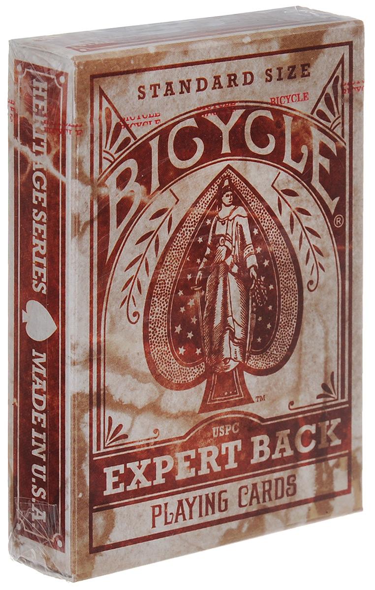 Карты игральные Bicycle Expert Back, цвет: красный, 54 картыК-254Игральные карты Bicycle Expert Back стандартного размера выполнены из многослойного картона с пластиковым покрытием и превосходно подойдут как для игры, так и для личной коллекции. Игральные карты Bicycle Expert Back - это переиздание колоды дизайна 1895 года. Похвастайтесь своей уникальной колодой, которая работает словно машина времени и возвращает нас в преддверие XX века.