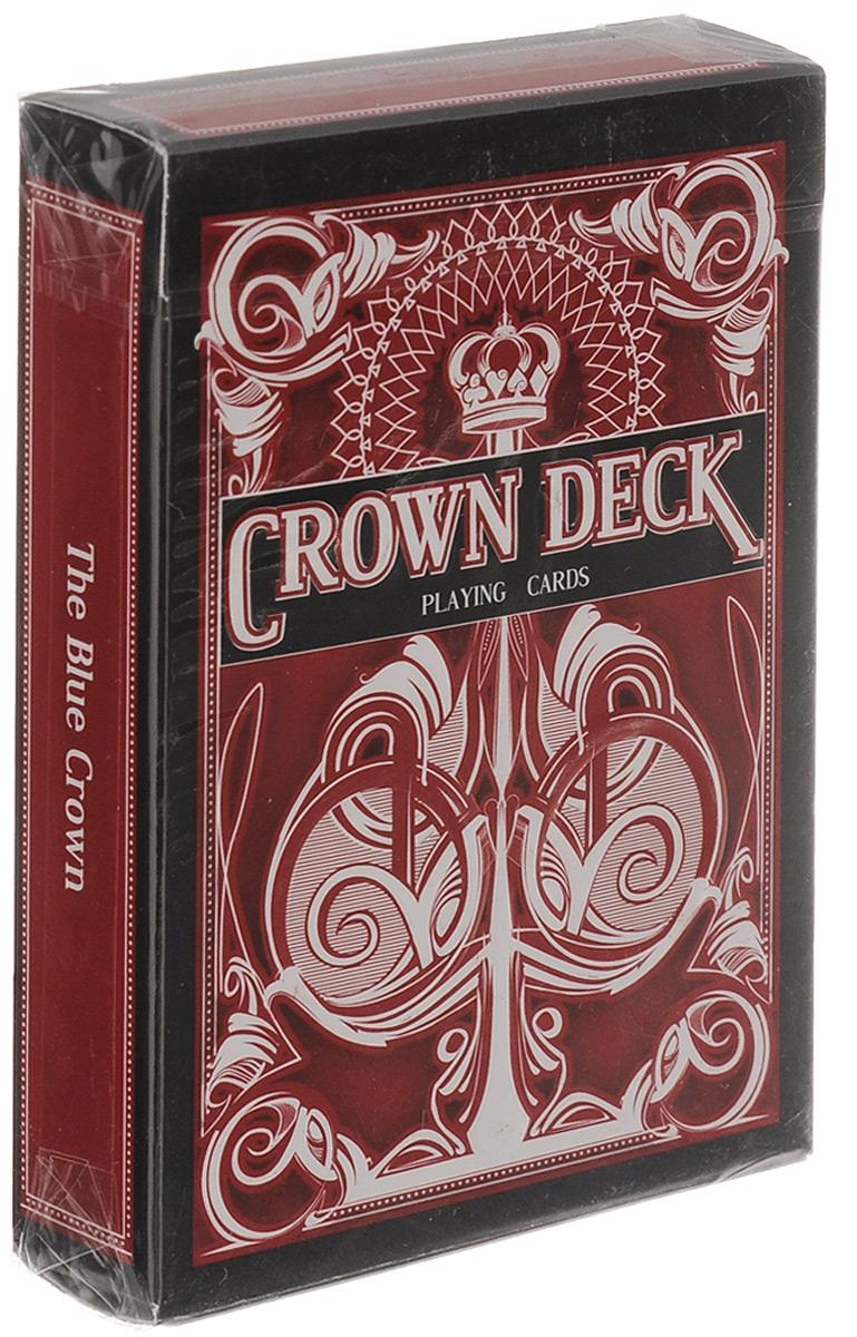 Карты игральные The Blue Crown The Crown Deck, цвет: красный, 55 картК-197Игральные карты The Blue Crown The Crown Deck стандартного размера выполнены из современной бумаги и абсолютно нового износоустойчивого покрытия и превосходно подойдут как для игры, так и для исполнения фокусов, флоришей и карточных трюков. Дизайн колоды выполнен в традициях Tally Ho, лица старших карт взяты из колоды Arrco. Игральные карты The Blue Crown The Crown Deck - отличный подарок для любителей стильных и надежных карт!