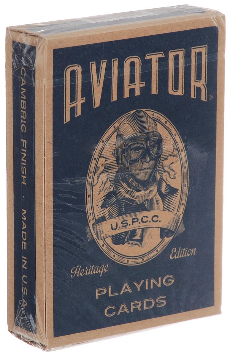 Карты игральные Aviator Dan and Dave, 54 картыК-579Игральные карты Aviator Dan and Dave стандартного размера выполнены из многослойного картона с пластиковым покрытием и превосходно подойдут как для игры, так и для личной коллекции. Игральные карты Aviator Dan and Dave – это знаменитая колода, выпущенная в честь авиатора Чарльза Линдберга, перелетевшего через Атлантический океан. Впервые игральные карты Aviator были выпущены в 1927 году и почти после 90 лет с момента их релиза, карты переизданы и представлены в новом дизайне.