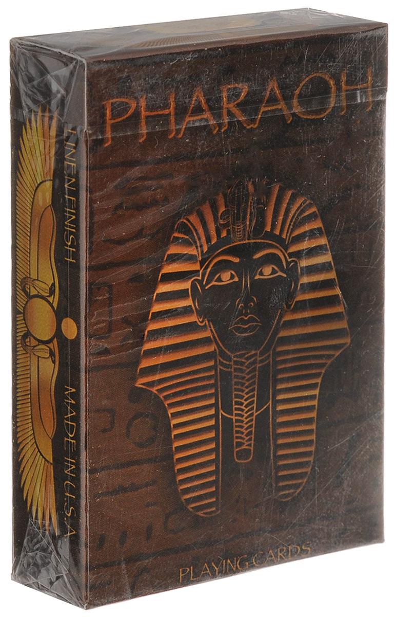 Карты игральные U.S. Games Pharaoh, 55 картК-304Игральные карты Bicycle Pharaoh стандартного размера выполнены из многослойного картона с пластиковым покрытием и превосходно подойдут как для игры, так и для личной коллекции. Новая колода игральных карт, разработанная Татьяной Карамен, имеет уникальный дизайн каждой карты и красивое оформление мастей! Мрачный Анубис и яркий Бог Солнца Ра и многие другие персонажи египетской мифологии и реальной истории – главные герои колоды. Отражение всего величия культуры Древнего Египта в одной колоде! Лимитированное издание упаковано в фольгированную коробку.