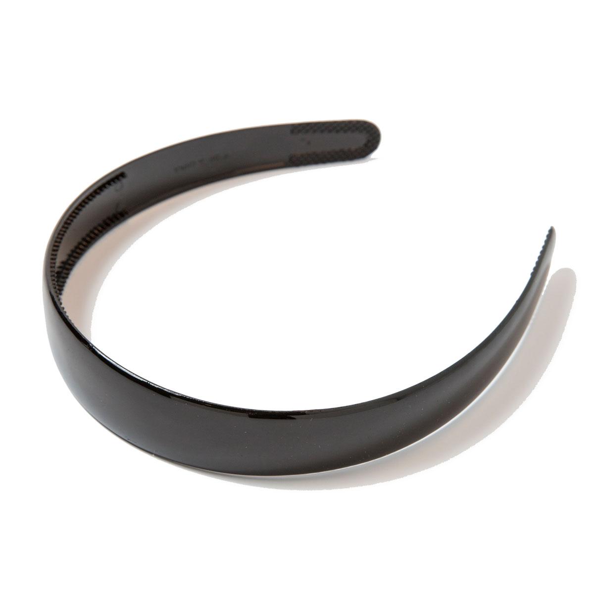 Ободок для волос Mitya Veselkov, цвет: черный. OBOD1BLAOBOD1BLAПравильно подобранный к цветовой гамме одежды, ободок сделает вас стильной и женственной, подчеркнет красивые черты вашего лица. Лаконичный ободок для волос Mitya Veselkov выполнен из прочного пластика. Ободок позволит не только убрать непослушные волосы со лба, но и придать вашему образу романтичности и очарования.