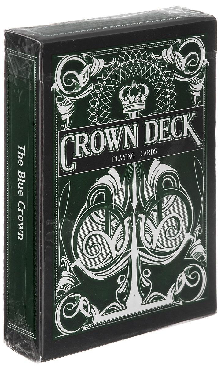 Карты игральные The Blue Crown The Crown Deck, цвет: зеленый, 55 картК-196Игральные карты The Blue Crown The Crown Deck стандартного размера выполнены из современной бумаги и абсолютно нового износоустойчивого покрытия и превосходно подойдут как для игры, так и для исполнения фокусов, флоришей и карточных трюков. Дизайн колоды выполнен в традициях Tally Ho, лица старших карт взяты из колоды Arrco. Игральные карты The Blue Crown The Crown Deck - отличный подарок для любителей стильных и надежных карт!