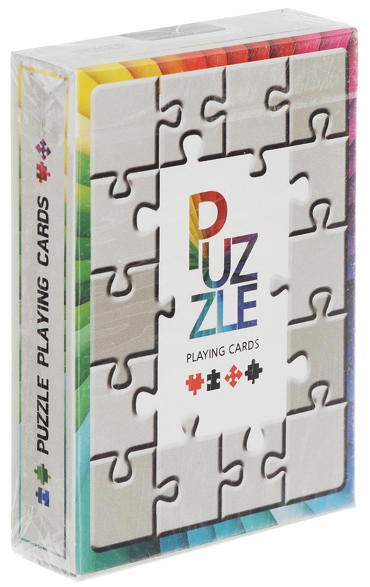 Карты игральные Jl Magic Puzzle, 55 картК-578Игральные карты Jl Magic Puzzle стандартного размера выполнены из многослойного картона с пластиковым покрытием и превосходно подойдут как для игры, так и для личной коллекции. Дизайн карт выполнен в стиле пазлов. Рубашки карт и коробка выглядят как головоломка.