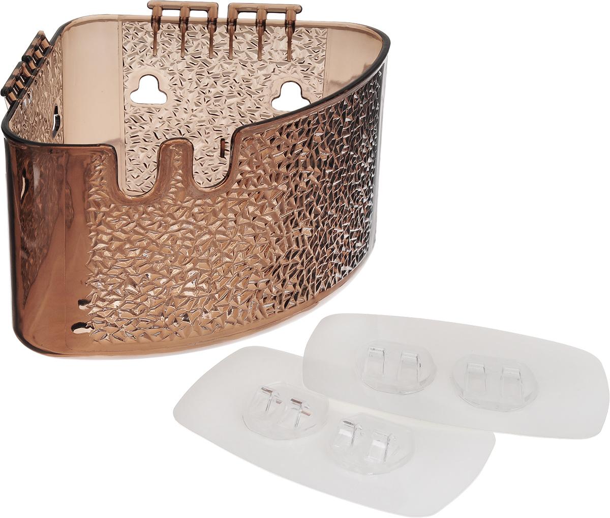 Полка угловая Fresh Code, на липкой основе, цвет: серый, 18,5 х 14 х 10 см64944_серыйУгловая полка Fresh Code для ванной комнаты выполнена из цветного пластика. Она пригодится для хранения различных принадлежностей, которые всегда будут под рукой. Крепление на липкой основе многократного использования идеально подходит для гладкой поверхности. Такая полка поможет создать прекрасное настроение ванной комнаты. Благодаря компактным размерам полка впишется в интерьер вашего дома и позволит удобно хранить предметы домашнего обихода. Максимальная нагрузка 3 кг.