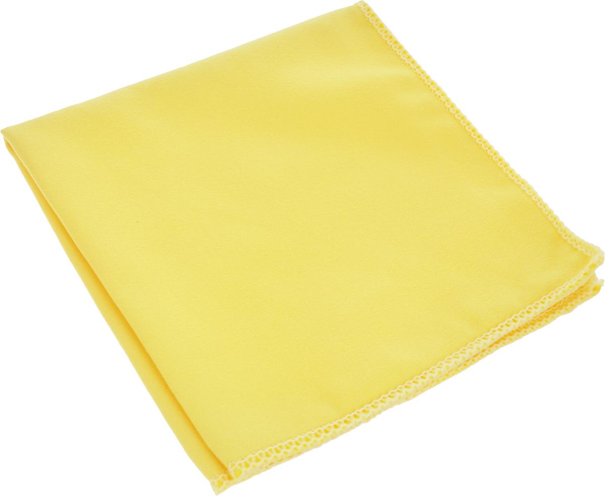 Салфетка для стекол, оптики и зеркал Home Queen, цвет: желтый, 30 х 30 см50306_желтыйСалфетка Home Queen, изготовленная из микрофибры (искусственная замша), предназначена для очищения загрязнений на любых поверхностях (включая стекла, зеркала, оптику, мониторы). Изделие обладает высокой износоустойчивостью и рассчитано на многократное использование, легко моется в теплой воде с мягкими чистящими средствами. Супервпитывающая салфетка не оставляет разводов и ворсинок, удаляет большинство жирных и маслянистых загрязнений без использования химических средств. Размер салфетки: 30 х 30 см.