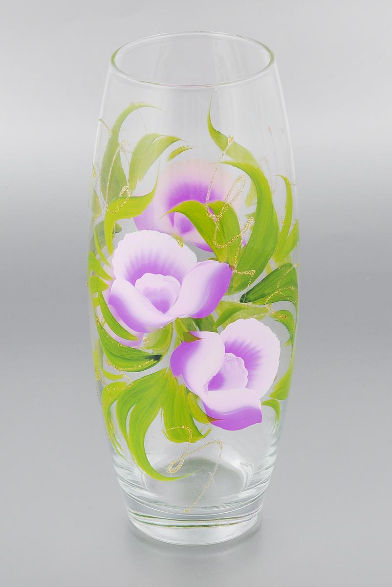 Ваза Мусатов Краса, высота 26,3 см. 966-12к966-12кВаза Мусатов Краса выполнена из высококачественного натрий-кальций-силикатного стекла. Изделие имеет изысканный внешний вид и декорировано художественной росписью. Такая ваза станет ярким украшением интерьера и прекрасным подарком к любому случаю. Диаметр вазы (по верхнему краю): 8 см. Высота вазы: 26,3 см.