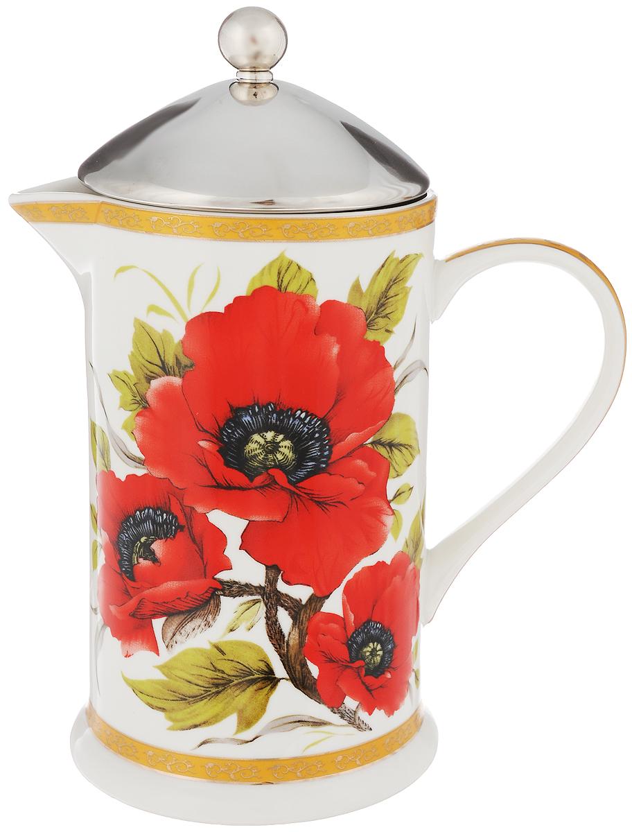 Френч-пресс Elan Gallery Маки, 750 мл503743Френч-пресс Elan Gallery Маки используется для заваривания крупнолистового чая, кофе среднего помола, травяных сборов. Изделие, изготовленное из высококачественной керамики и стали, декорировано красочным изображением. Френч-пресс Elan Gallery Маки незаменим для любителей чая и кофе. Не рекомендуется применить абразивные моющие средства. Не использовать в микроволновой печи. Объем: 750 мл. Диаметр (по верхнему краю): 8,8 см. Высота (с учетом крышки): 20,5 см.