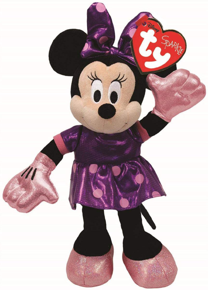 TY Мягкая озвученная игрушка Minnie 15 см41070Мягкая озвученная игрушка TY Minnie вызовет улыбку у каждого, кто ее увидит. Игрушка изготовлена из безопасных, приятных на ощупь материалов в виде веселой мышки Минни Маус. Мышка одета в яркое блестящее платье, на голове у нее забавный бантик. Если нажать Минни на животик, то она начнет задорно смеяться. Пластиковые гранулы, используемые при набивке игрушки, способствуют развитию мелкой моторики рук ребенка. Милая игрушка будет радовать вашего ребенка, и способствовать полноценному и гармоничному развитию его личности. Великолепное качество исполнения делают эту игрушку чудесным подарком к любому празднику, как для ребенка, так и взрослого человека! Игрушка работает от незаменяемых батареек.