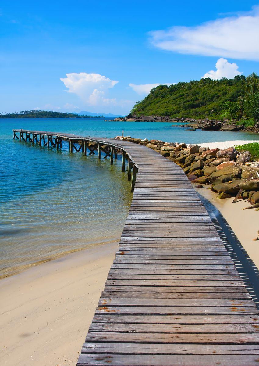 """Фотообои Decoretto """"Пляж в Тайланде"""", 180 х 254 см"""