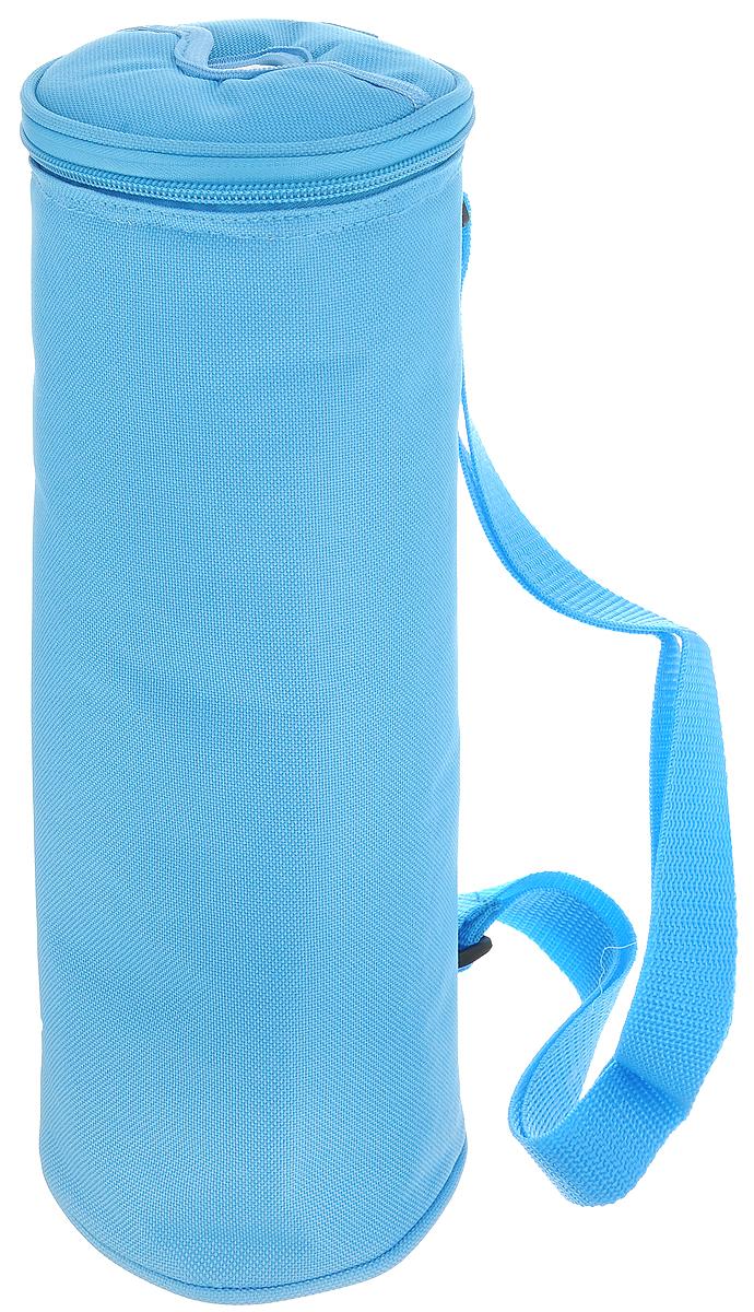 Сумка-холодильник для бутылок Tescoma Coolbag, цвет: голубой, 11,5 х 11,5 х 32,5 см892314_голубойСумка-холодильник Tescoma Coolbag, изготовленная из прочного полиэстера и полипропиленовой фольгированной пленки, предназначена для сохранения температуры напитков. Сумка-холодильник имеет одно вместительное отделение. Благодаря отверстию для горлышка, емкость можно открыть в любое время, не доставая ее из сумки. Изделие идеально подходит для ПЭТ бутылок объемом 1,5-2 литра. Внутри сумки расположена теплоизолирующая подкладка из алюминиевой фольги. Сумка закрывается на молнию и имеет регулируемый ремень для удобной переноски. Она прекрасно подходит для походов на пляж, пикников и поездок за город. С такой сумкой напитки дольше остаются охлажденными. Рекомендуется чистить влажным полотенцем. Нельзя мыть в посудомоечной машине, не стирать.
