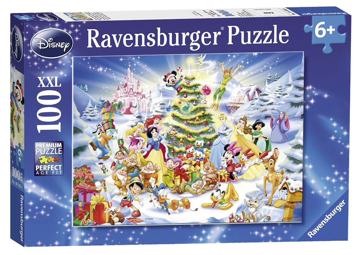 Ravensburger Пазл для малышей Рождество с героями Диснея10545Пазл для малышей Ravensburger Рождество с героями Диснея придется по душе вам и вашему малышу. Собрав этот пазл, включающий в себя 100 элементов, вы получите великолепную картину с изображением героев Диснея у рождественской елки. Каждая деталь имеет свою форму и подходит только на свое место. Нет двух одинаковых деталей! Пазл изготовлен из картона высочайшего качества. Все изображения аккуратно отсканированы и напечатаны на ламинированной бумаге. Пазл - великолепная игра для семейного досуга. Сегодня собирание пазлов стало особенно популярным, главным образом, благодаря своей многообразной тематике, способной удовлетворить самый взыскательный вкус. А для детей это не только интересно, но и полезно. Собирание пазла развивает мелкую моторику у ребенка, тренирует наблюдательность, логическое мышление, знакомит с окружающим миром, с цветом и разнообразными формами.