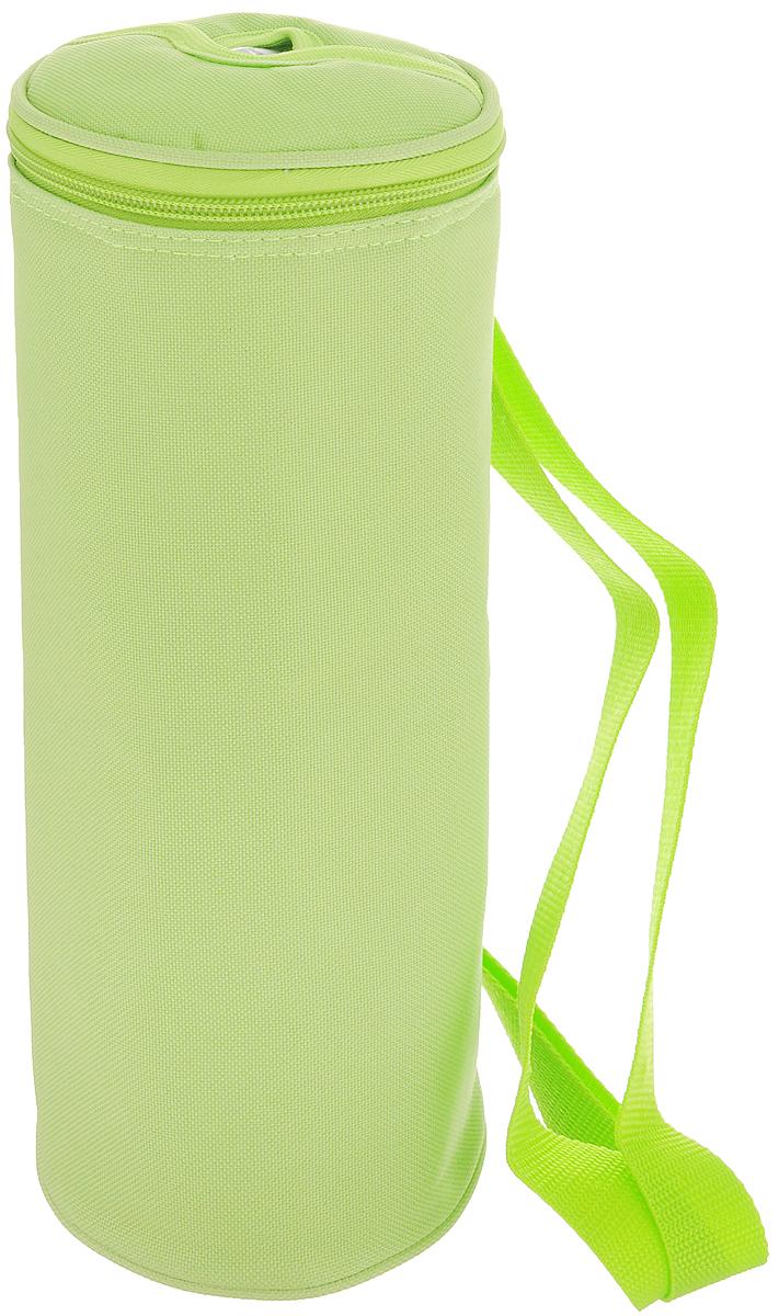 Сумка-холодильник для бутылок Tescoma Coolbag, цвет: салатовый, 11,5 х 11,5 х 32,5 см892314Сумка-холодильник Tescoma Coolbag, изготовленная из прочного полиэстера и полипропиленовой фольгированной пленки, предназначена для сохранения температуры напитков. Сумка-холодильник имеет одно вместительное отделение. Благодаря отверстию для горлышка емкость можно открыть в любое время, не доставая ее из сумки. Изделие идеально подходит для ПЭТ бутылок объемом 1,5-2 литра. Внутри сумки расположена теплоизолирующая подкладка из алюминиевой фольги. Сумка закрывается на молнию и имеет регулируемый ремень для удобной переноски. Она прекрасно подходит для походов на пляж, пикников и поездок за город. С такой сумкой напитки дольше остаются охлажденными. Рекомендуется чистить влажным полотенцем. Нельзя мыть в посудомоечной машине, не стирать.