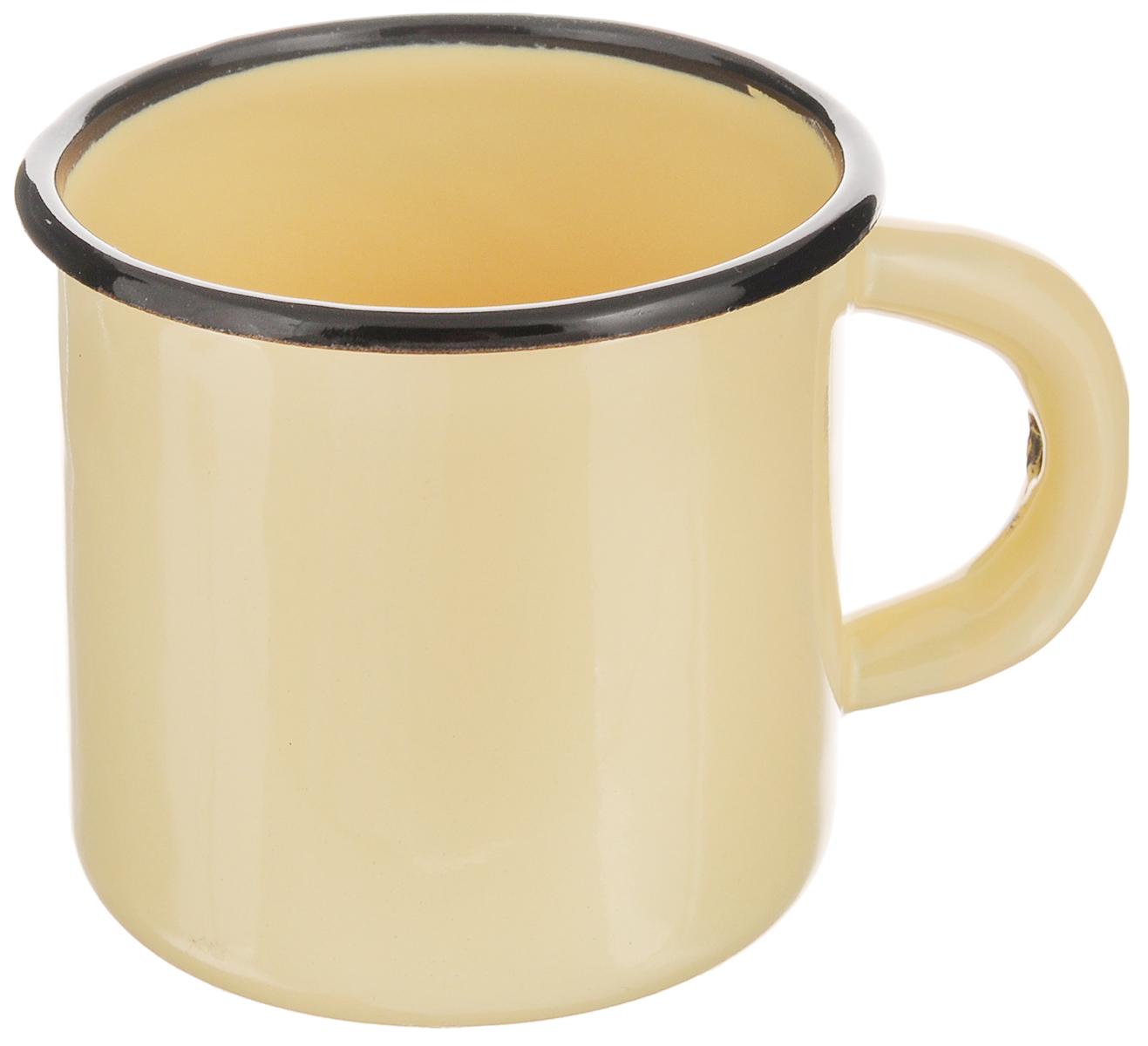 Кружка эмалированная СтальЭмаль, цвет: светло-желтый, 250 мл2с1_желтыйКружка СтальЭмаль, изготовленная из высококачественной стали с эмалированным покрытием, оснащена удобной ручкой. Такая кружка не требует особого ухода и ее легко мыть. Благодаря классическому дизайну и удобству в использовании кружка займет достойное место на вашей кухне.