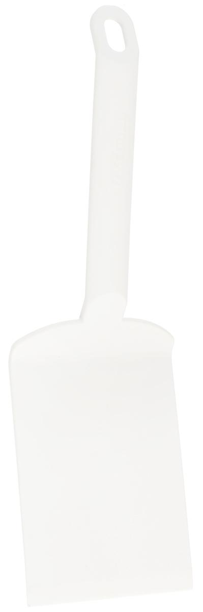 Лопатка для лазаньи Tescoma Space Bianco, длина 25,5 см638071Лопатка для лазаньи Tescoma Space Bianco изготовлена из высококачественного термостойкого нейлона. Изделие оснащено эргономичной ручкой, которая не скользит в руках и делает ее использование удобным и безопасным. Ручка снабжена специальным отверстием для подвешивания. Подходит для всех видов посуды, особенно с антипригарным покрытием. Лопатка Tescoma Space Bianco займет достойное место среди аксессуаров на вашей кухне. Можно мыть в посудомоечной машине. Длина изделия: 25,5 см. Размер рабочей поверхности: 12 х 8 см.