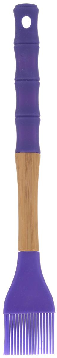 Кисть кулинарная Mayer & Boch, цвет: фиолетовый, натуральное дерево, длина 29 см23164_фиолетовыйКулинарная кисть Mayer & Boch, выполненная из высококачественного силикона и бамбука, предназначена для смазывания противня и нанесения масла на кондитерские изделия, смазывания соусом и маринадом мяса и рыбы. Изделие безопасно для посуды с антипригарным и керамическим покрытиями. Эргономичная рукоятка обеспечивает надежный хват. Кисть Mayer & Boch станет отличным дополнением к коллекции ваших кухонных аксессуаров. Общая длина кисти: 29 см. Длина ворсинок: 3 см.