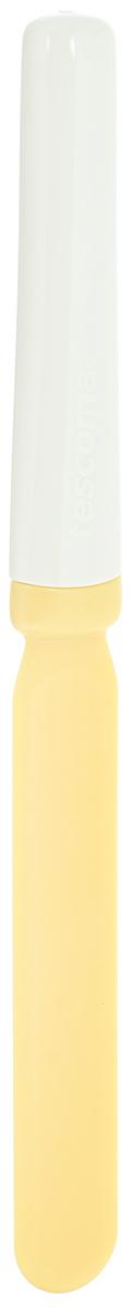 Мини-лопатка для растирания Tescoma Delicia, длина 21 см630074Мини-лопатка для растирания Tescoma Delicia изготовлена из термостойкого нейлона. Элегантная ручка выполнена из пластика. Изделие имеет узкую вытянутую форму и идеально подходит для растирания, украшения и порцевания небольших тортов. Особенно это касается приготовления кремов. Мини-лопатка для растирания Tescoma Delicia станет вашим незаменимым помощником на кухне, а также это практичный и необходимый подарок любой хозяйке! Размер рабочей поверхности: 11 х 2 см. Общая длина лопатки: 21 см.