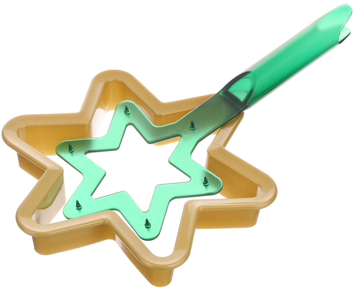 Набор для выпечки пряников Tescoma Рождественская звезда, 2 предмета631414Набор Tescoma Рождественская звезда, выполненный из высококачественного пластика, состоит из формочки для вырезания теста и держателя готовой формы. Такой набор прекрасно подходит для изготовления в домашних условиях пряников и других сладких изделий. Приготовленной выпечкой можно украсить верхушку новогодней елки. Набор Tescoma Рождественская звезда - это прекрасное развлечение для всей семьи при изготовлении оригинальных рождественских декораций. Можно мыть в посудомоечной машине. Размер формы для запекания: 17 х 15 х 3 см. Размер держателя готовой формы: 23 х 9,5 х 2 см.