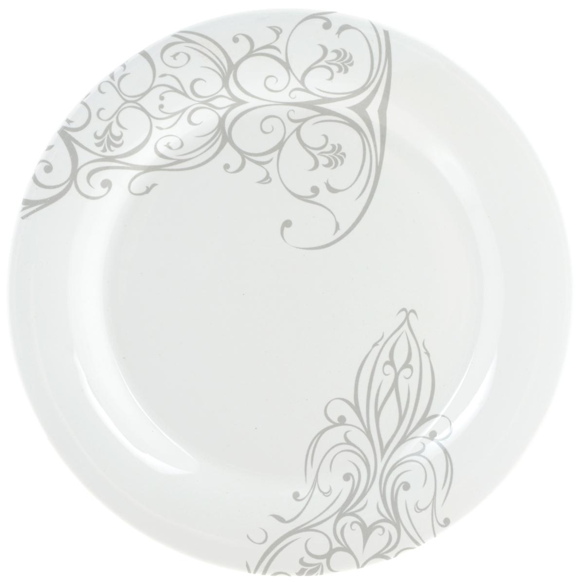 Тарелка десертная Ceramiche Viva Черный ирис, диаметр 20 см7222.3Десертная тарелка Ceramiche Viva Черный ирис изготовлена из высококачественной керамики, покрытой слоем сверкающей глазури. Изделие декорировано красивыми узорами. Такая тарелка отлично подойдет в качестве блюда для закусок и нарезок, а также для подачи различных десертов. Тарелка прекрасно дополнит сервировку стола и порадует вас оригинальным дизайном. Допускается мытье в посудомоечной машине, а также использование для разогрева блюд в СВЧ-печи. Диаметр тарелки: 20 см. Высота стенки: 2 см.