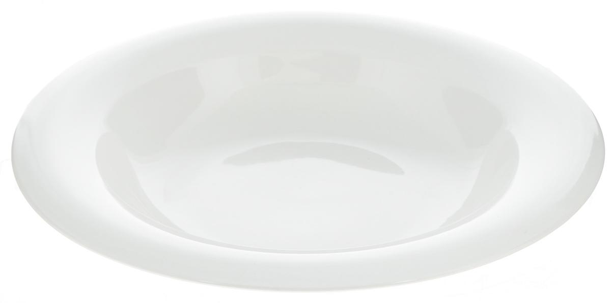 Тарелка глубокая Tescoma Rondo, диаметр 22 см385318Глубокая тарелка Tescoma Rondo изготовлена из высококачественного фарфора, покрытого сверкающей глазурью. Изделие предназначено для подачи жидких блюд. Тарелка лаконичного дизайна отлично дополнит сервировку стола. Изделие можно использовать в СВЧ-печи и мыть в посудомоечной машине. Диаметр тарелки: 22 см. Высота стенки: 4,5 см.