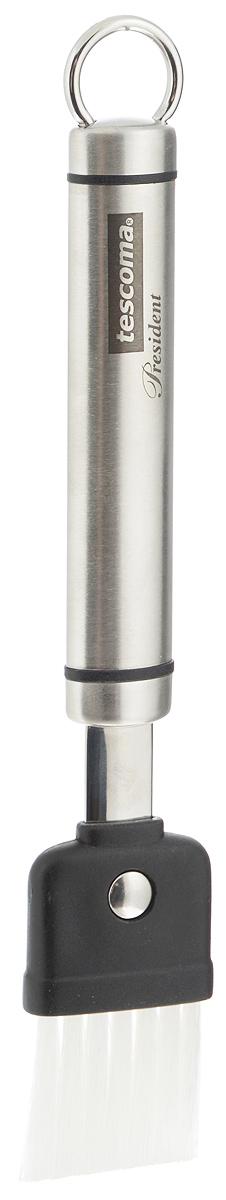 Кисть кондитерская Tescoma President, со сменной насадкой, длина 20 см638642Кондитерская кисть Tescoma President предназначена для нанесения масла, белка или желтка. Ручка изготовлена из первоклассной нержавеющей стали. Рабочая поверхность кисти выполнена из нейлона и пластика. Насадка кисти сменная. Ручка снабжена специальным отверстием для подвешивания на крючок. Изделие можно мыть в посудомоечной машине. Длина кисти: 20 см. Размер рабочей поверхности: 3,5 х 6 см.
