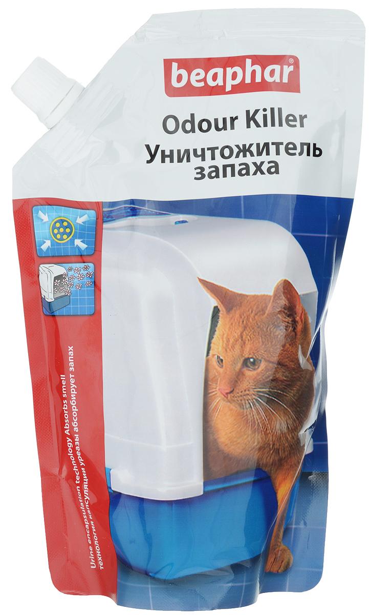 Уничтожитель запаха для кошачьих туалетов Beaphar Odour Killer, 400 г13210Уничтожитель запаха для кошачьих туалетов Beaphar Odour Killer - это уникальный продукт, в состав которого входит инновационная смесь: приятный дезодорант, блокиратор фермента (уреазы) и натуральные полезные бактерии. Он не просто маскирует запах, а полностью нейтрализует причину его появления! Сначала дезодорант устраняет первые проявления неприятного запаха мочи. После впитывания мочи активизируется натуральный ингибитор и блокиратор урезы, предотвращающий химическую реакцию, вызывающую резкий запах. И в заключении примерно через 1 час происходит полный распад всех составляющих мочу компонентов до углекислого газа и воды. Этот процесс происходит, благодаря активизации бактерий, использующих мочу как источник пищи, таким образом, полностью устраняется причина появления проблемы. Бактерии, используемые в продукте, совершенно безопасны для животных. Способ применения: насыпьте уничтожитель запаха на чистый наполнитель сверху или сначала насыпьте...
