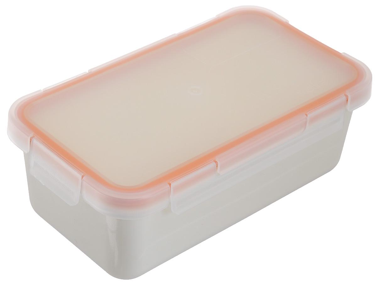 Контейнер пищевой Valira Nomad, цвет: белый, оранжевый, 750 мл6090/9Пищевой контейнер Valira Nomad - это надежный и удобный пищевой контейнер, выполненный из керамического пластика. Данный материал не содержит полипропилена, BPA и фталатов, что очень важно для здоровья. Выдерживает нагрев до +200°С. Контейнер оснащен крышкой с силиконовой прослойкой и защелками с четырех сторон. Полностью герметичен и водонепроницаем, отлично подходит даже для переноски жидких блюд. Не впитывает запахов и не окрашивается в цвет пищи, материал изделия приятен на ощупь. Контейнер подходит для ежедневного использования на работе или учебе, а также для отдыха на природе. Благодаря компактным размерам, его удобно взять с собой в поездку или путешествие. Контейнер можно использовать для разогревания пищи в микроволновой печи, а также для замораживания продуктов до -20°С. Легко моется в посудомоечной машине.