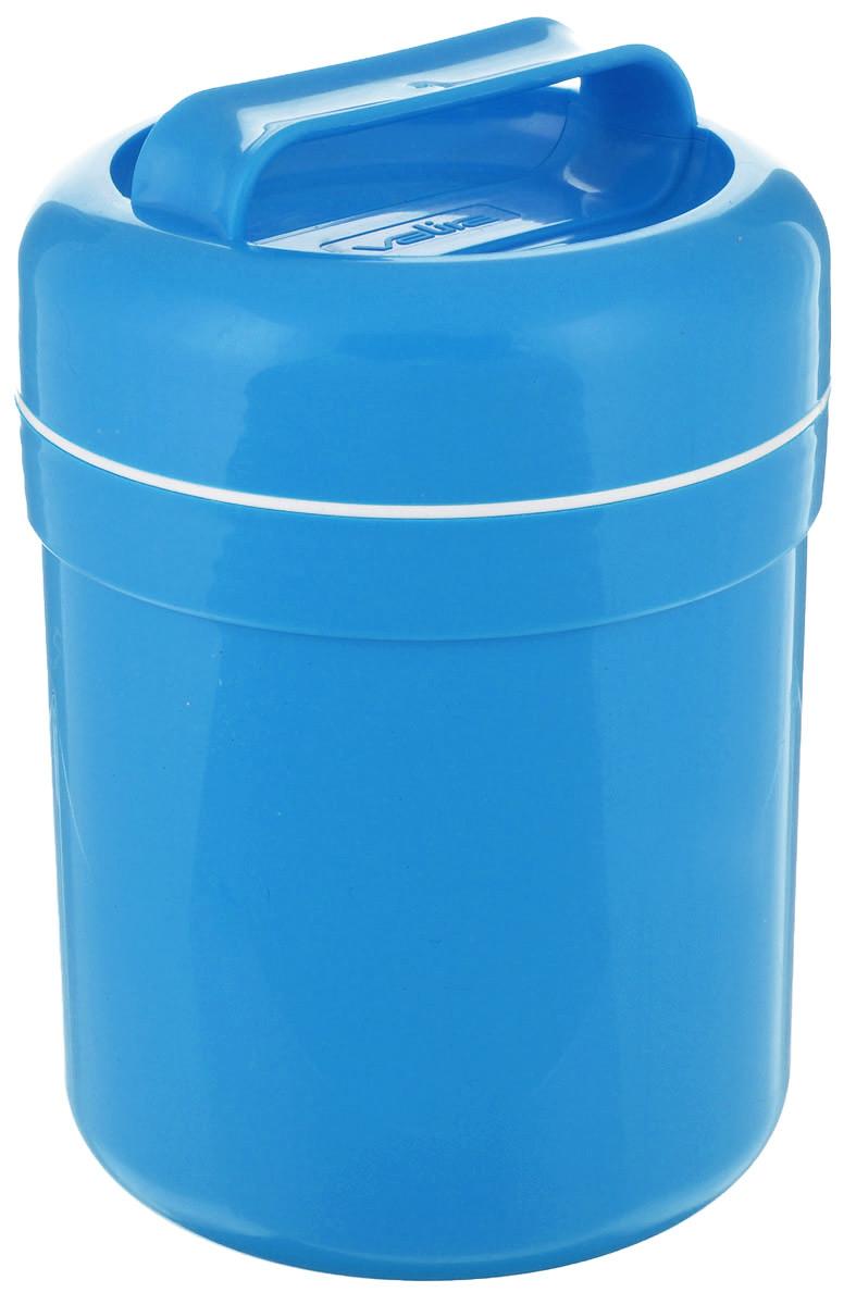 Термоконтейнер для еды Valira, цвет: голубой, 500 мл6207/139Термоконтейнер Valira - это удобный и легкий термический контейнер для еды, который сохраняет пищу горячей до 6 часов, холодной - до 8 часов. Контейнер выполнен из цветного пищевого пластика, внутри расположена стеклянная колба, а, как известно, стекло позволяет хранить тепло и холод лучше всех других материалов. Внутреннее пластиковое покрытие гигиенично и легко моется. Если нет возможности разогреть или сохранить в холоде пищу, этот контейнер будет вашим незаменимым помощником. Герметично закрывается крышкой с удобной ручкой для переноски. Подходит для ежедневного использования на работе или учебе, а также для отдыха на природе.
