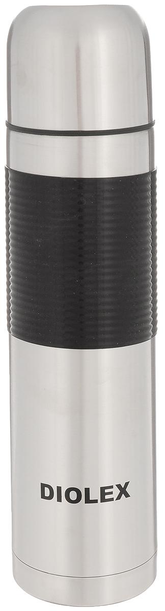 Термос Diolex, 1 л. 1000-1-DXR1000-1-DXRТермос Diolex изготовлен из высококачественной нержавеющей стали с матовой полировкой. Двойная колба из нержавеющей стали сохраняет напитки горячими до 12 часов, а холодными до 24 часов. Резиновая вставка на корпусе обеспечивает надежный хват и удобство использования. Термос еще удобен и тем, что нет необходимости полностью откручивать пробку. Чтобы налить напиток, просто нажмите кнопку. Крышку можно использовать в качестве кружки, ее внутренняя поверхность имеет отделку пластиком, гигиенична и легка в очистке. Удобный, компактный и практичный термос пригодится в путешествии, походе и поездке. Диаметр горлышка: 5 см. Диаметр основания термоса: 8 см. Высота термоса: 31,5 см.