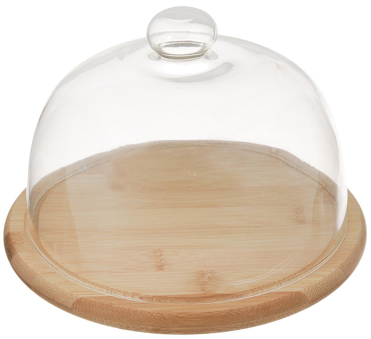 Сырница Mayer & Boch, диаметр 20 см23264Сырница Mayer & Boch состоит из подноса и прозрачной стеклянной крышки. Она предназначена для удобного хранения и красивой сервировки различных сортов сыра, а также других продуктов. Поднос изготовлен из бамбука и имеет специальные выемки, благодаря которым крышка на него легко устанавливается. Он может использоваться как для хранения и сервировки сыра, так и для нарезания продуктов. Сырница Mayer & Boch станет незаменимым помощником на вашей кухне. Диаметр подноса: 20 см. Высота подноса: 1,5 см. Диаметр крышки: 18 см. Высоты крышки: 13 см.