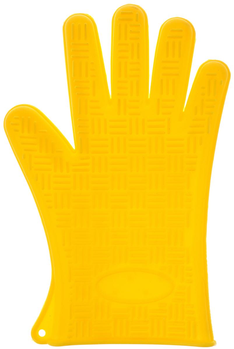 Прихватка-перчатка Mayer & Boch, силиконовая, цвет: желтый, 27 х 18 см4427-4Прихватка-перчатка Mayer & Boch изготовлена из прочного цветного силикона. Она способна выдерживать температуру от -40°C до +220°С. Эластична, износостойка, влагонепроницаема, легко моется, удобно и прочно сидит на руке. С помощью такой прихватки ваши руки будут защищены от ожогов, когда вы будете ставить в печь или доставать из нее выпечку. Можно мыть в посудомоечной машине.
