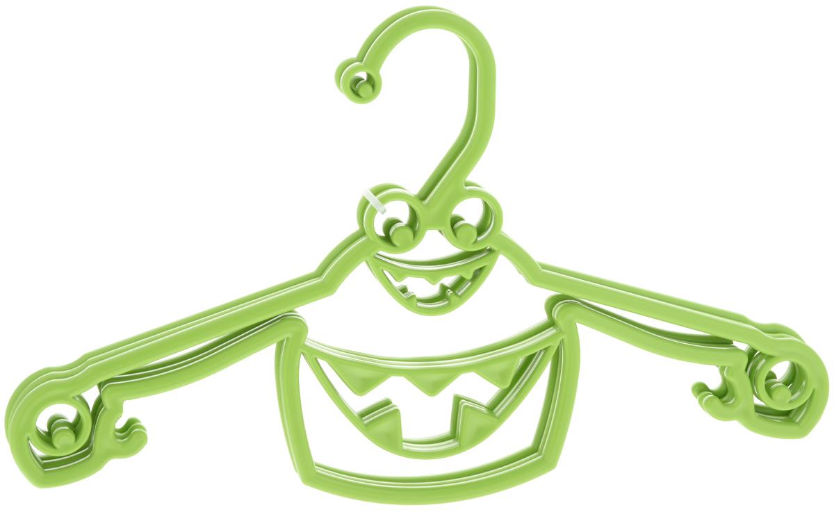Набор вешалок Пластишка, с крючками, цвет: салатовый, 3 штС13024_салатовый2Набор Пластишка, изготовленный из прочного полипропилена, состоит из 3 детских вешалок для одежды с закругленными плечиками. Изделия оснащены крючками. Вешалка - это незаменимая вещь для того, чтобы ваша одежда всегда оставалась в хорошем состоянии. Комплектация: 3 шт.