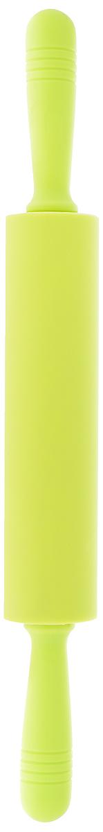 Скалка силиконовая Mayer & Boch, цвет: салатовый, длина 47 см21937Силиконовая скалка Mayer & Boch изготовлена из пластика с силиконовым покрытием, которое предотвращает прилипание теста. Валик скалки вращается, что позволяет прикладывать меньше усилий во время раскатывания теста. Прочные пластиковые ручки обеспечивают комфорт при использовании. Такая скалка поможет с легкостью готовить ваши любимые блюда. Длина скалки: 47 см. Длина валика: 23 см. Диаметр валика: 5 см.
