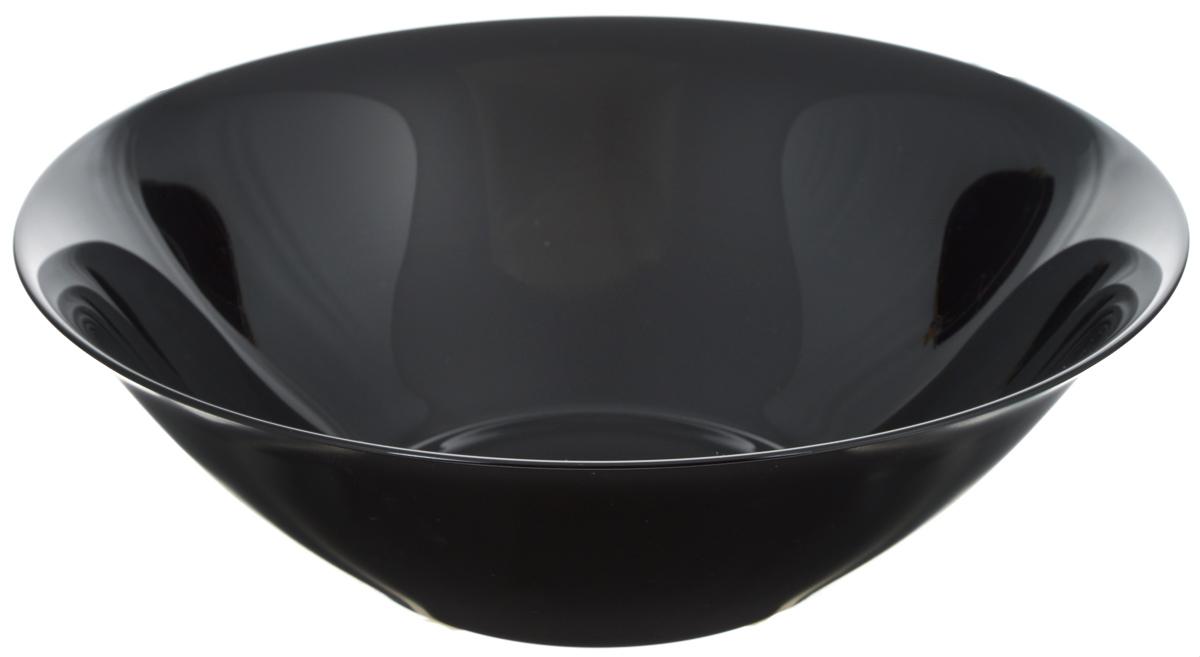 Салатник Luminarc Carine Black, диаметр 27 смD2376Салатник Luminarc Carine Black выполнен из ударопрочного стекла, он придется по вкусу и ценителям классики, и тем, кто предпочитает утонченность и изысканность. Салатник Luminarc Carine Black идеально подойдет для сервировки стола и станет отличным подарком к любому празднику. Диаметр (по верхнему краю): 27 см.