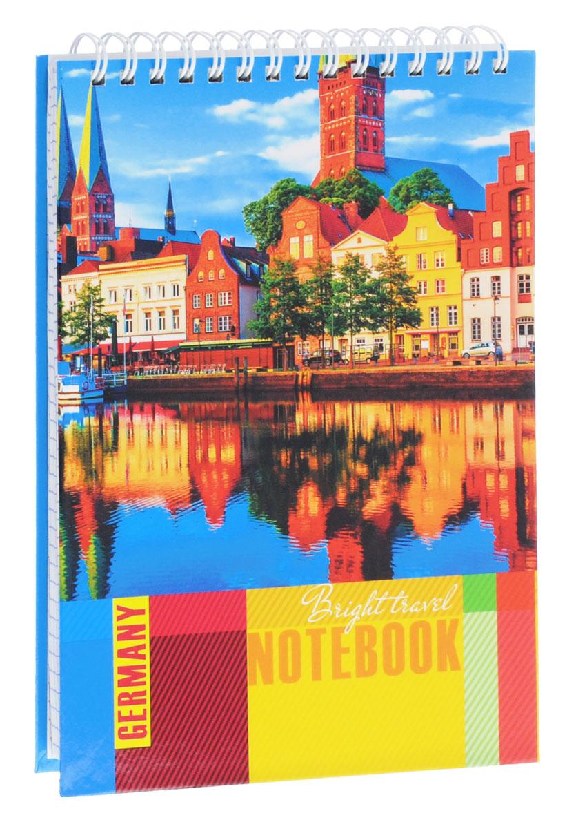 Listoff Тетрадь Яркая Германия 100 листов в клеткуТС51004261Тетрадь Listoff Яркая Германия подойдет как школьнику, так и студенту для различных записей. Обложка тетради выполнена из картона и оформлена солнечным пейзажем немецкого города. Внутренний блок состоит из 100 листов белой бумаги. Стандартная линовка в фиолетовую клетку без полей. На такой бумаге вы можете использовать любой тип ручек, не боясь, что бумага промокнет. Листы тетради соединены металлическим гребнем сверху.