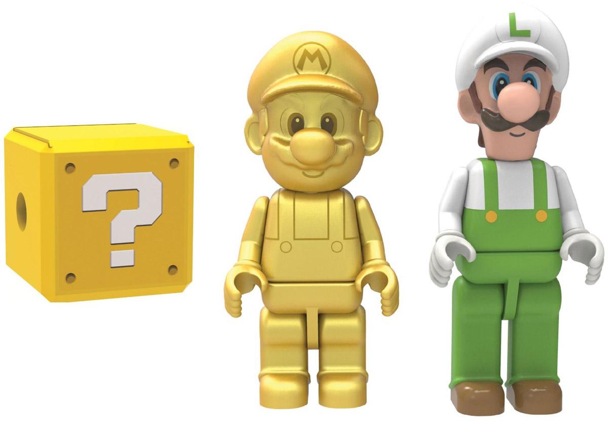 Knex Набор фигурок Golden Mario Fire Luigi & Mystery Figure38867Набор фигурок Knex Golden Mario, Fire Luigi & Mystery Figure станет отличным подарком все поклонникам знаменитых братьев Марио. В набор входит фигурка Golden Mario, Fire Luigi и одна загадочная фигурка. Кто именно? Вы узнаете, только открыв упаковку. Составные части фигурок взаимозаменяемы, поэтому можно собрать свою собственную, уникальную фигурку! Головы и конечности фигурок подвижны.