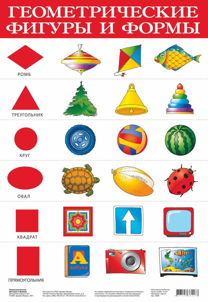 Дрофа-Медиа Обучающий плакат Геометрические фигуры и формы2094Обучающий плакат Дрофа-Медиа  Геометрические фигуры и формы - это наглядное пособие для ознакомления и закрепления знаний по разным темам для вашего ребенка. На плакате изображены разные фигуры и формы. Какая фигура нарисована, предметы таких же форм показаны на плакате. Ярко-иллюстрированный плакат поможет вашему малышу выучить не только разные фигуры, но и их названия.Такой плакат позволяет проводить обучение в игровой форме, делать его увлекательным и интересным.