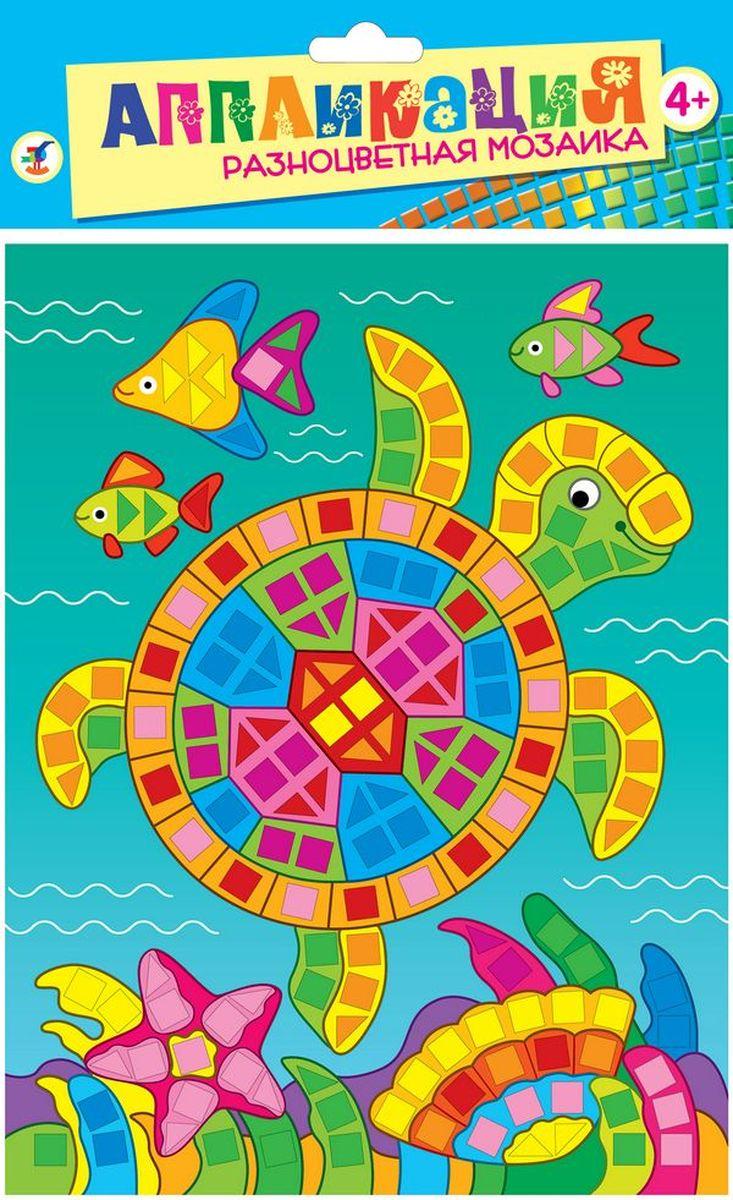 Дрофа-Медиа Аппликация Разноцветная мозаика Морская черепаха2783В набор входят: картинка-основа для аппликации, квадратики из мягкого пластика на самоклеящейся основе 8 цветов, декоративные элементы (стразы, глазки и др.)