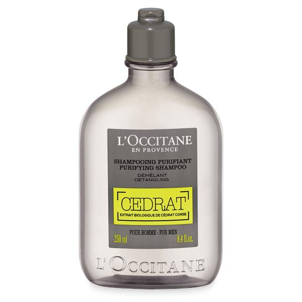 LOccitane Шампунь Cedrat для мужчин, 250 мл430279Шампунь содержит экстракт корсиканского цитрона, обладающего тонизирующими свойствами, и эфирное масло розмарина, которое дарит глубокое очищение. Восстанавливает естественный баланс кожи головы, избавляя от неприятных ощущений. Подходит для всех типов волос. Возвращает волосам шелковистость и здоровый блеск, облегчает расчёсывание.