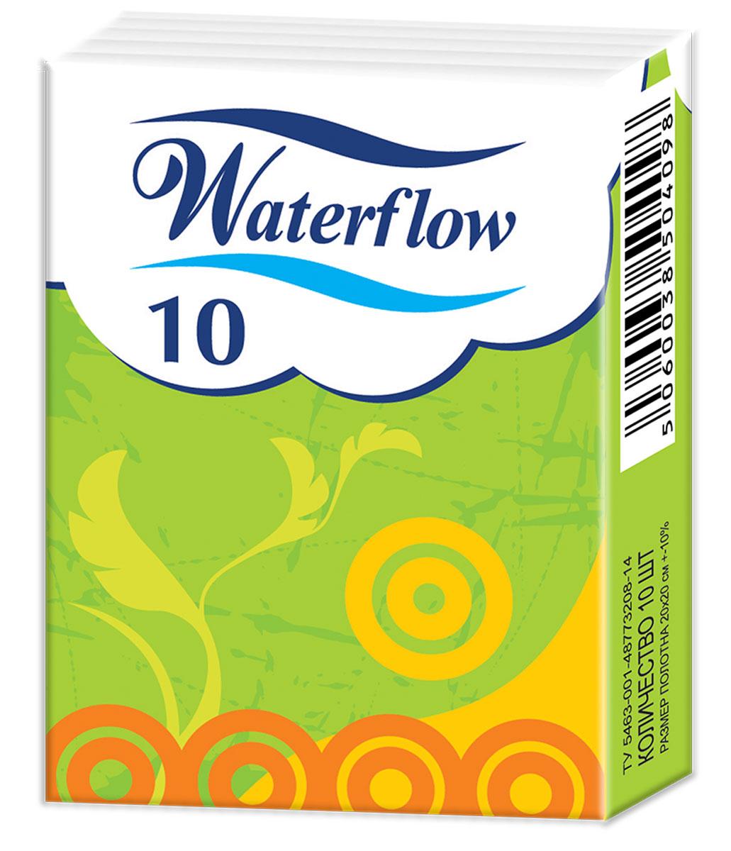 Waterflow Бумажные носовые платочки Compact, 10 шт ( 16554 )