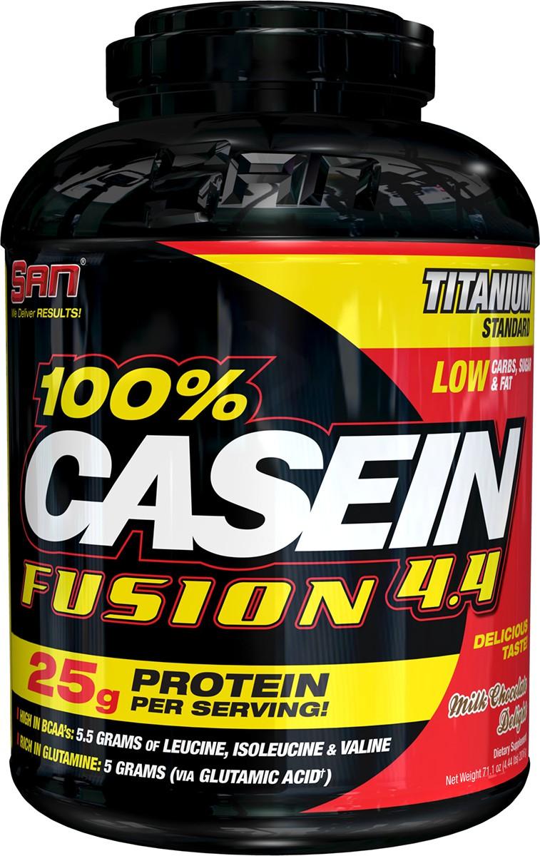 Протеин SAN 100% Casein Fusion, шоколад, 2000 г00515SAN 100% Casein Fusion содержит 25 грамм медленно усваиваемой протеиновой матрицы с контролируемым высвобождением, содержащий мицеллярный казеин и концентрат молочного белка. В одной порции содержится приблизительно 5,5 грамм аминокислот с разветвленными цепями (лейцин, изолейцин, валин) и 5 грамм глутамина; Богат незаменимыми жирными кислотами, которые содержатся в таких продуктах, как подсолнечное масло; Очень низкое содержание углеводов, сахара и жиров; Белок с оптимальным высвобождением в ночное время и между приемами пищи; Непревзойденный вкус, текстура и аромат.