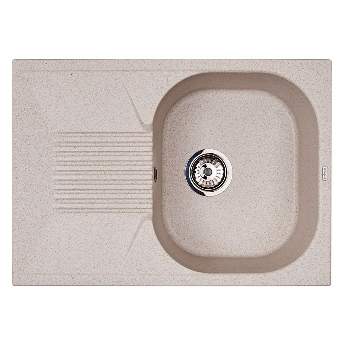 Мойка Weissgauff Classic 695 Eco Granit, цвет: светло-бежевый, 69,0 х 19,0 х 49,0 см267296Гранитные мойки Weissgauff Eco Granit – классическая коллекция моек, изготовленных из специально подобранных композитных материалов , содержащих оптимальное сочетание 80% каменной массы высокого качества и 20% связующих материалов. Оригинальный и функциональный дизайн - технология изготовления позволяет создавать любые цвета и формы, оптимальные для современных кухонь. Мойки Weissgauff легко подобрать к интерьеру любой кухни, для разных цветов и форм столешниц Влагостойкость - отталкивание влаги – одна из примечательных особенностей моек из искусственного камня за счет связующих композитных материалов, которые продлевают их срок службы и способствуют сохранению первоначального вида Термостойкость - подвергая мойки воздействию высоких температур, например, различными горячими жидкостями, будьте уверенны, что мойки Weissgauff – эталон стойкости и качества, так как они устойчивы к перепаду температур. Специальный состав моек Weisgauff избавляет от проблемы...