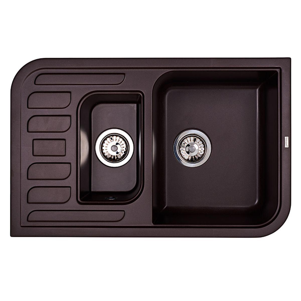 Мойка Weissgauff Softline 780 Eco Granit, цвет: шоколад, 78,0 х 18,5 х 50,0 см306332Гранитные мойки Weissgauff Eco Granit – классическая коллекция моек, изготовленных из специально подобранных композитных материалов , содержащих оптимальное сочетание 80% каменной массы высокого качества и 20% связующих материалов. Оригинальный и функциональный дизайн - технология изготовления позволяет создавать любые цвета и формы, оптимальные для современных кухонь. Мойки Weissgauff легко подобрать к интерьеру любой кухни, для разных цветов и форм столешниц Влагостойкость - отталкивание влаги – одна из примечательных особенностей моек из искусственного камня за счет связующих композитных материалов, которые продлевают их срок службы и способствуют сохранению первоначального вида Термостойкость - подвергая мойки воздействию высоких температур, например, различными горячими жидкостями, будьте уверенны, что мойки Weissgauff – эталон стойкости и качества, так как они устойчивы к перепаду температур. Специальный состав моек Weisgauff избавляет от проблемы...