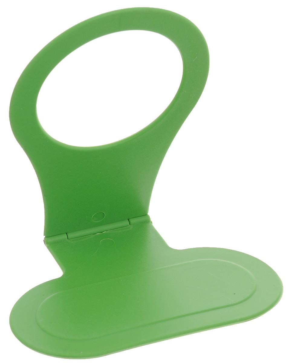 Подставка для мобильного телефона Eva, цвет: зеленый, 11 х 10 х 7,5 смЕС-010_зеленыйПодставка для мобильного телефона Eva станет незаменимым приобретением для каждого. Подставка изготовлена из пластика. Она позволяет оставить ваше мобильное устройство непосредственно рядом с розеткой, а также подставка имеет компактные размеры, что позволяет брать ее с собой. Размер подставки (в разложенном виде): 11 х 10 х 7,5 см. Размер подставки (в сложенном виде): 11 х 10 х 0,5 см. Диаметр отверстия: 5,5 см.