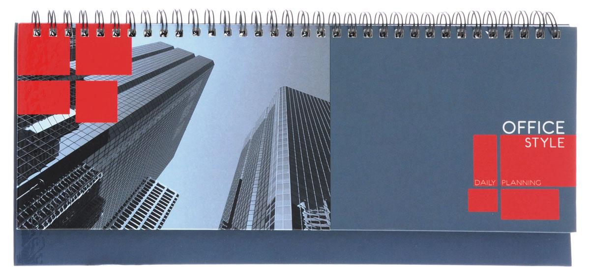 Listoff Планинг Деловой город недатированный 56 листовП1605Оригинальный недатированный планинг Listoff Деловой город - неотъемлемый атрибут любого современного делового человека. Планинг позволит систематизировать входящую информацию и оптимизировать график встреч, не отходя от рабочего места. Обложка планинга выполнена из прочного ламинированного картона, что придает ему опрятный и строгий внешний вид. Внутренний блок изготовлен из высококачественной бумаги и представлен 56 плотными листами, размеченными по дням недели. Первая страница представляет собой анкету для личных данных владельца, на двух последующих расположен календарь с 2016 по 2019 года. Три последние страницы разлинованы для записи контактных данных деловых партнеров и коллег по работе. Планинг надежно скреплен металлическим гребнем. Планинг Listoff Деловой город станет функциональным и практичным аксессуаром, и займет достойное место на вашем рабочем столе благодаря своему лаконичному классическому дизайну.