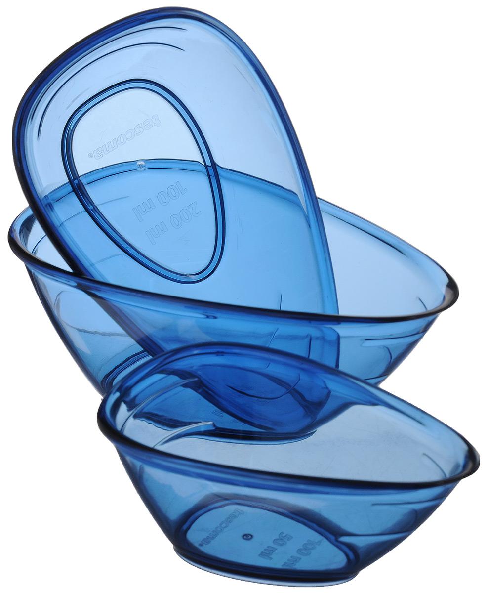 Набор мерных емкостей Tescoma Presto, цвет: синий, 3 шт420736Набор Tescoma Presto, выполненный из ударопрочного пластика, состоит из трех мерных емкостей. Изделия предназначены для легкого и точного отмеривания жидкостей и сыпучих продуктов от 50 до 250 мл. Высокое качество и функциональность набора Tescoma Presto позволят ему стать достойным дополнением к вашему кухонному инвентарю. Можно мыть в посудомоечной машине. Объем емкостей: 100 мл; 200 мл; 250 мл. Размер емкостей: 11 х 7 х 5 см; 13,5 х 8 х 6 см; 14,5 х 9 х 6 см.