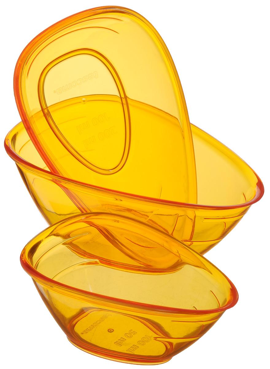 Набор мерных емкостей Tescoma Presto, цвет: оранжевый, 3 шт420736_оранжевыйНабор Tescoma Presto состоит из трех мерных емкостей, выполненных из ударопрочного пластика. Изделия предназначены для легкого и точного отмеривания жидкостей и сыпучих продуктов от 50 до 250 мл. Высокое качество и функциональность набора Tescoma Presto позволят ему стать достойным дополнением к вашему кухонному инвентарю. Можно мыть в посудомоечной машине. Объем емкостей: 100 мл; 200 мл; 250 мл. Размер емкостей: 11 х 7 х 5 см; 13,5 х 8 х 6 см; 14,5 х 9 х 6 см.