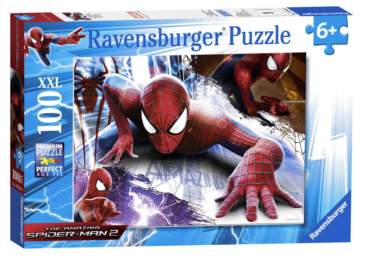 Ravensburger Пазл для малышей Человек-паук XXL 1054310543Пазл для малышей Ravensburger Человек-паук XXL придется по душе вам и вашему малышу. Собрав этот пазл, включающий в себя 100 элементов, вы получите великолепную картину с изображением знаменитого супергероя. Каждая деталь имеет свою форму и подходит только на свое место. Нет двух одинаковых деталей! А качественный материал не позволит вашей картине потускнеть с течением времени. Пазл - великолепная игра для семейного досуга. Сегодня собирание пазлов стало особенно популярным, главным образом, благодаря своей многообразной тематике, способной удовлетворить самый взыскательный вкус. А для детей это не только интересно, но и полезно. Собирание пазла развивает мелкую моторику у ребенка, тренирует наблюдательность, логическое мышление, знакомит с окружающим миром, с цветом и разнообразными формами.