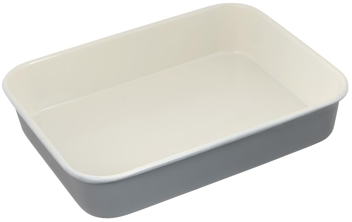 Противень Mayer & Boch Unico, с керамическим покрытием, прямоугольный, цвет: серый, кремовый, 34 х 26 х 6,5 см22254_серыйПротивень Mayer & Boch Unico выполнен из высококачественной углеродистой стали и снабжен антипригарным керамическим покрытием, что обеспечивает прочность и долговечность. Противень равномерно и быстро прогревается, что способствует лучшему пропеканию пищи. Его легко чистить. Готовая выпечка без труда извлекается. Простой в уходе и долговечный в использовании противень Mayer & Boch станет верным помощником в создании ваших кулинарных шедевров. Не рекомендуется мыть в посудомоечной машине. Противень подходит для использования в духовке с максимальной температурой 250°С. Перед каждым использованием противень необходимо смазать небольшим количеством масла. Внешний размер противня: 34 х 26 см. Внутренний размер противня: 32 х 24 см. Высота стенки: 6,5 см.
